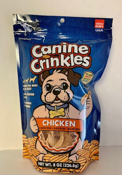 Chasing Our Tails Canine Crinkles Chicken, Dog Treats 8 OZ.