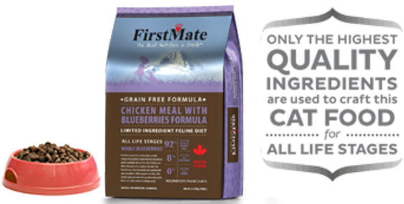 FirstMate Chicken Meal With Blueberries Formula, Cat Food