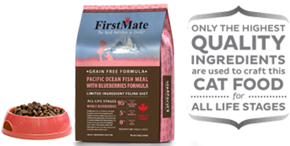 FirstMate Pacific Ocean Meal With Blueberries Formula Cat Food