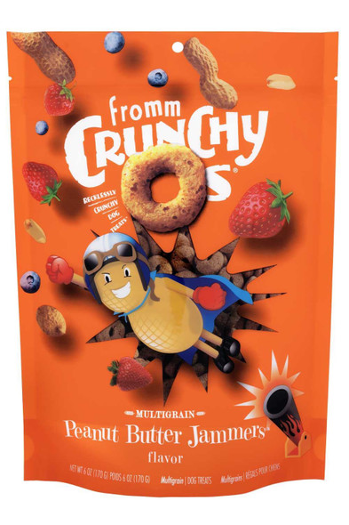 Fromm Crunchy O's Peanut Butter Jammers Dog Treat 6 OZ.