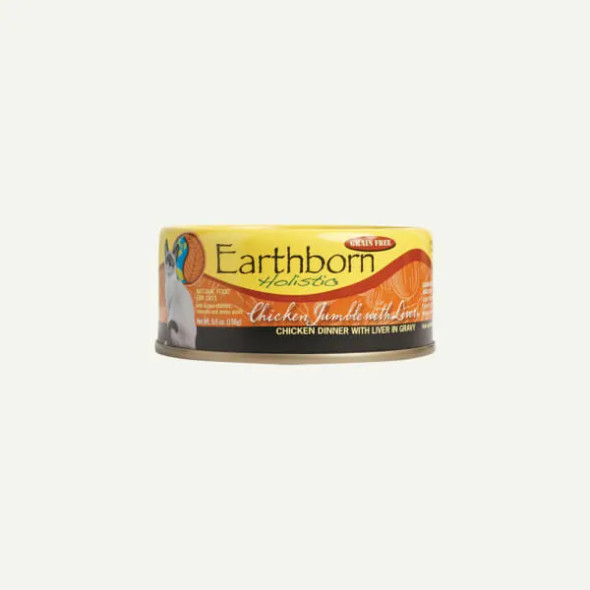 Earthborn Chicken Jumble with Liver Cat Food 5.5 OZ.,  Case of 24