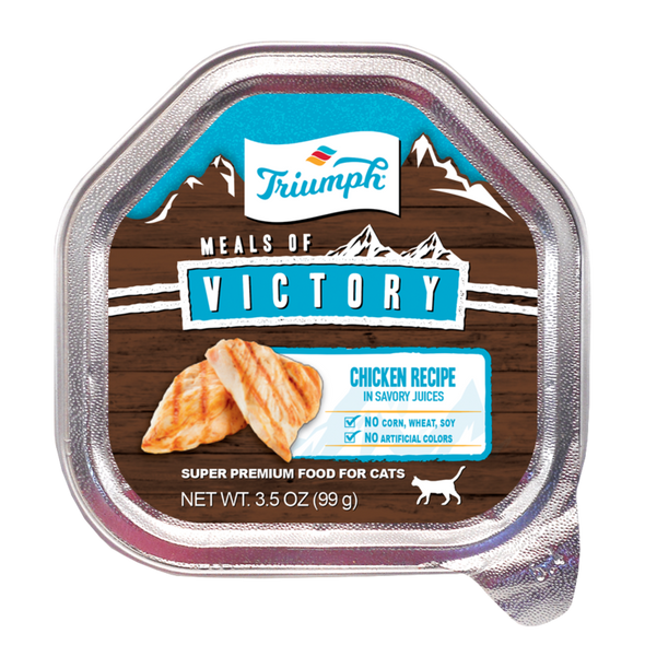 Triumph Meals Of Victory Chicken Recipe Cat Food 3.5 OZ., Case of 15