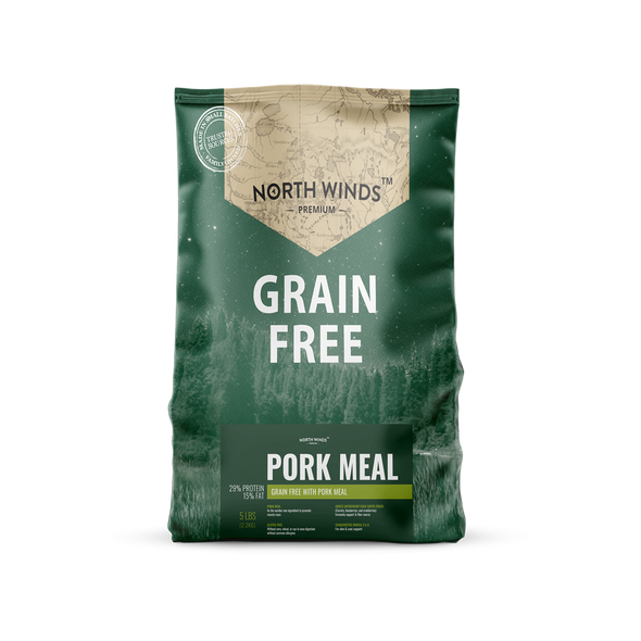North Winds Premium Grain Free with Pork Meal Dog Food