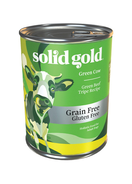 Solid Gold Green Cow Green Beef Tripe Recipe Dog Food 13.2 OZ., Case Of 6