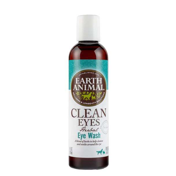 Earth Animal Clean Eyes Eye Wash Dog and Cat Supplement, 4 OZ.