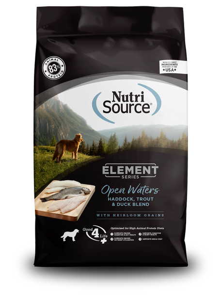 Nutrisource Element Series Open Waters Recipe Haddock, Trout, & Duck High Animal Protein Dog Food