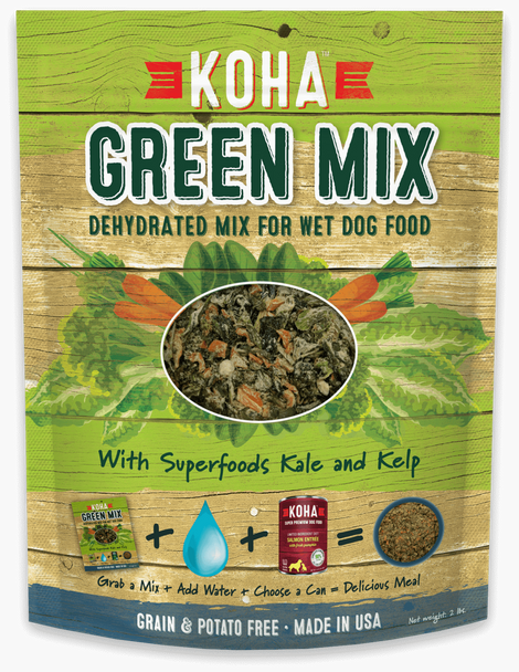 Koha Green Mix - Dehydrated Mix for Wet and Raw Dog Food