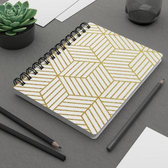 Gold Geometric Spiral Bound Journal