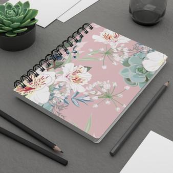 Pink Floral Spiral Bound Journal