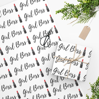 Girl Boss Lipstick Wrapping Paper