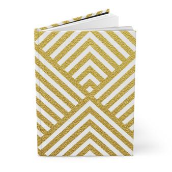 Geometric Gold Glitter Hardcover Journal Matte - Ruled Line