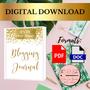 Blogging Journal Guide