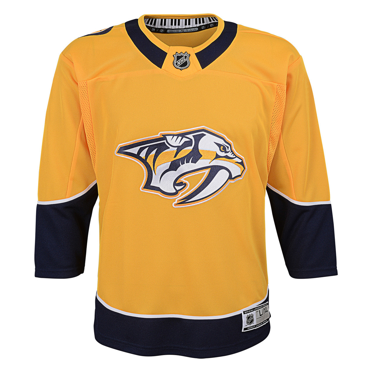 size 40 75c36 ebc23 Nashville Predators Youth Premier Jersey Home/ Gold