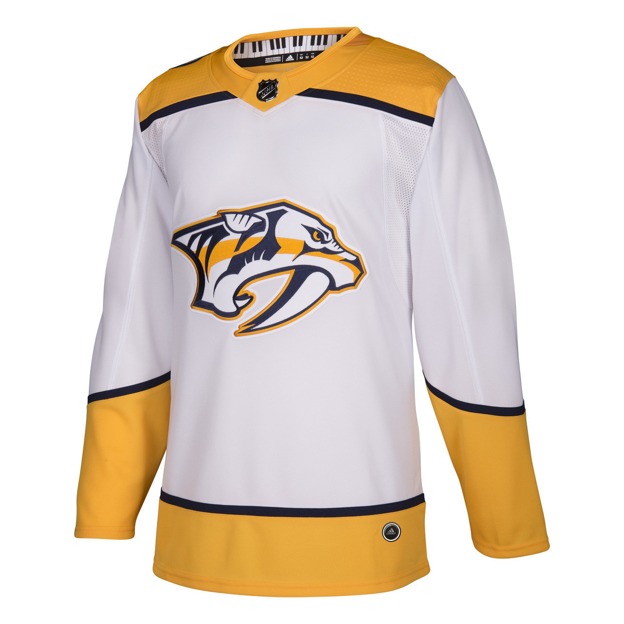 beff1c637e2 Nashville Predators Adidas Authentic Jersey Road White - Nashville ...