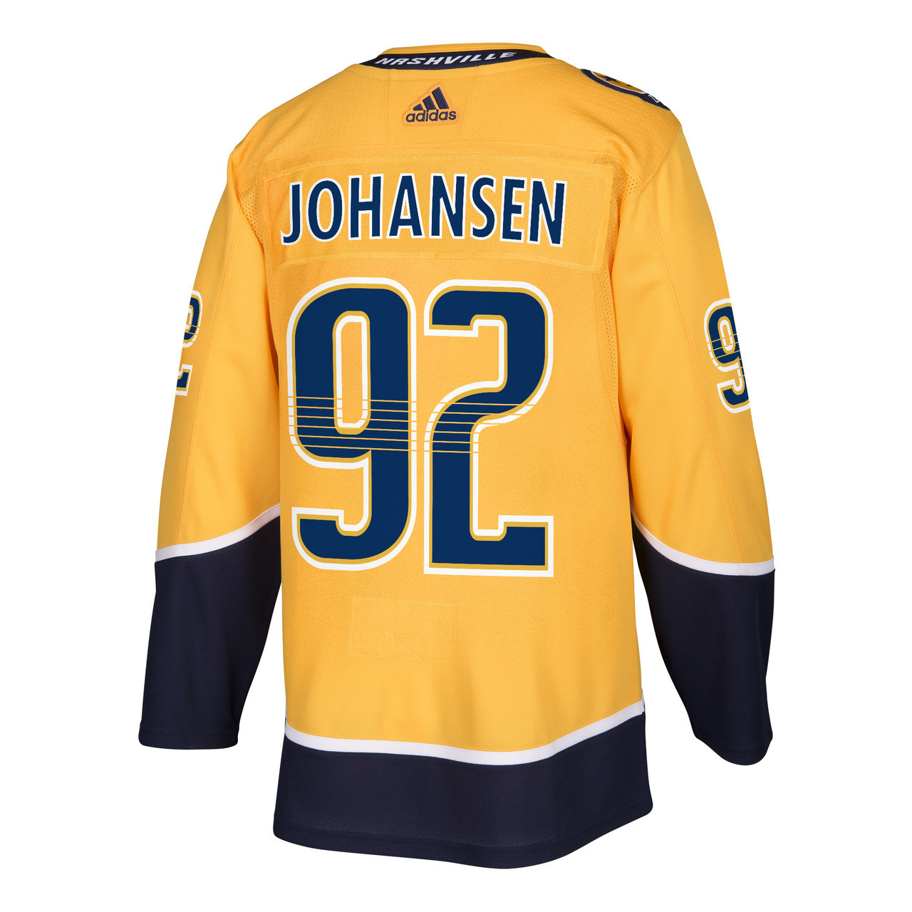 Nashville Predators Adidas Authentic Ryan Johansen Jersey Home Gold ... 117daa196