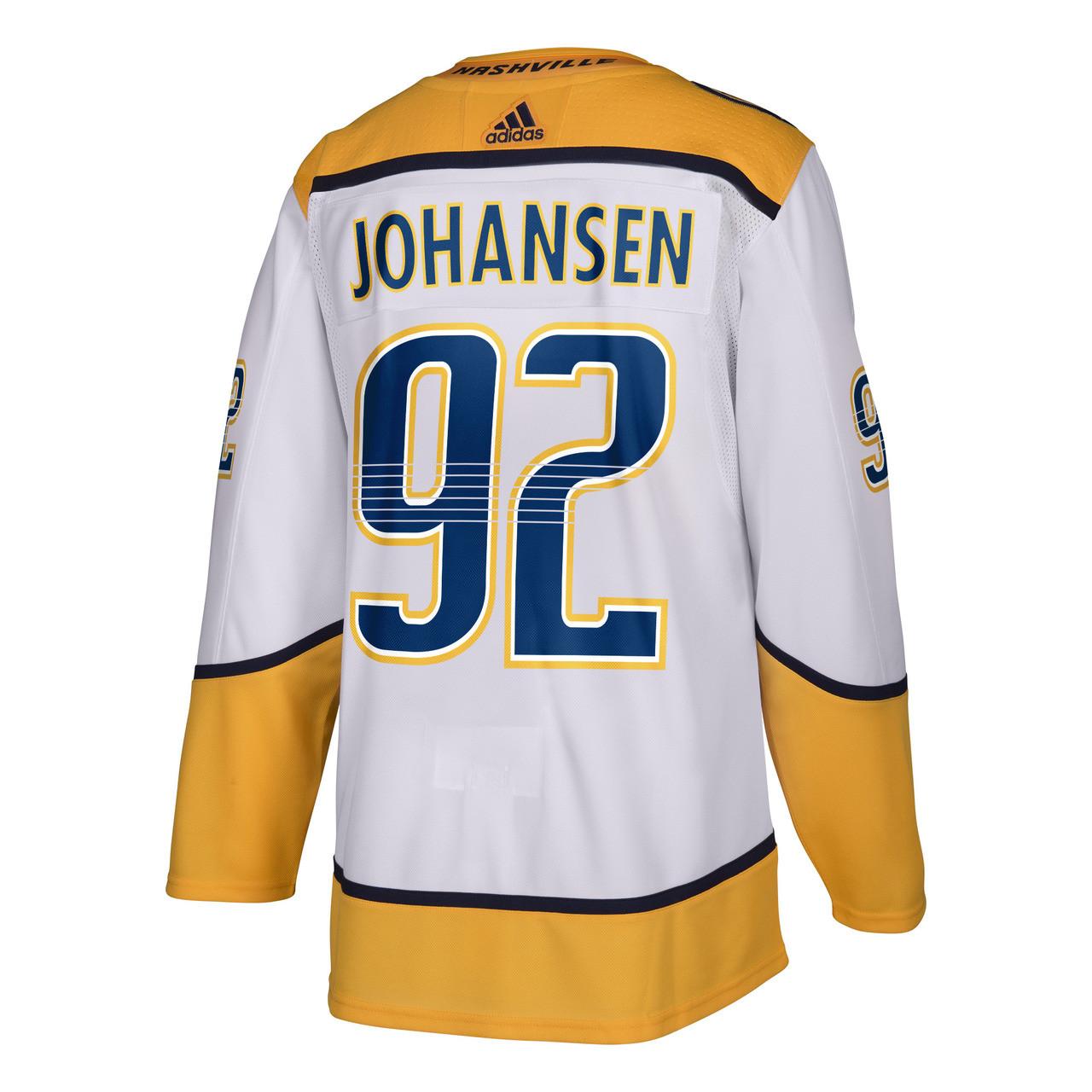 Nashville Predators Adidas Authentic Ryan Johansen Jersey Road White ... b2f6d37cee37