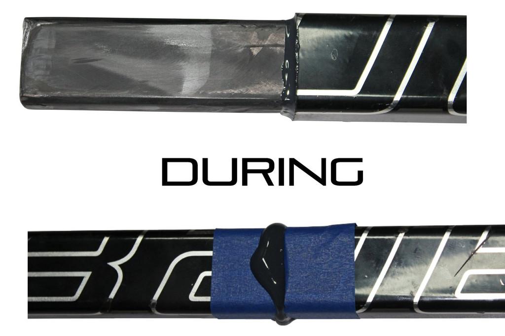 Junior Hockey Stick Repair System - Do-It-Yourself Stick Repair System from Bison Hockey Sticks - During