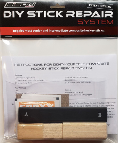 Hockey Stick Repair System - Do-It-Yourself Stick Repair System from Bison Hockey Sticks
