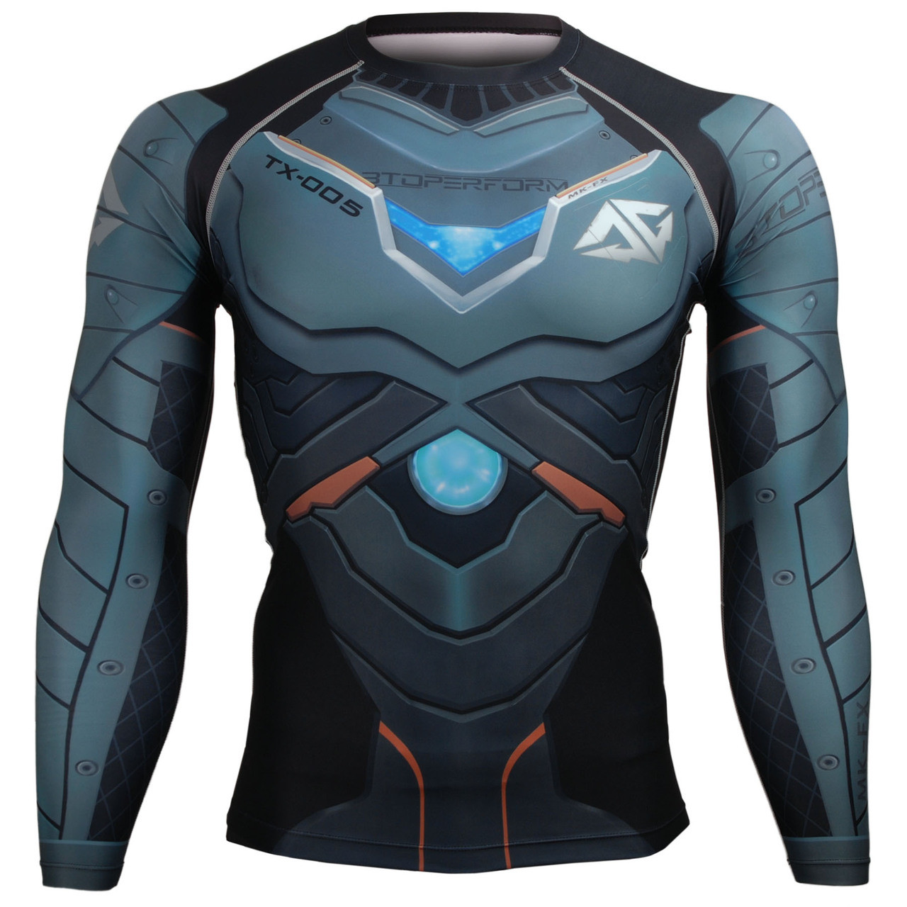 Men Compression Shirt Full Sleeves Base Layer Skin Tight Activewear Rash Guard