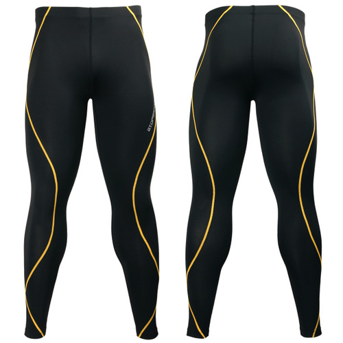 Black+Yellow [PY-KYL] Solid color compression leggings