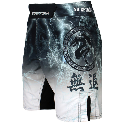 NO RETREAT - White [FS-03W] MMA Fight shorts