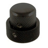 Stacked Metal Dome Knob Set for Guitar & Bass-Black