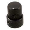 Stacked Metal Flat Top Knob for Guitar & Bass-Black