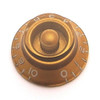 Bell Knob w/ Coarse Splines-Gold