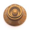 Bell Knob w/ Fine Splines-Gold
