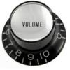 Reflector Cap Volume Knob with Fine Splines-Black