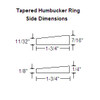 Humbucker Ring Set-Tapered w/ Curved Bottoms-Side Dimensions