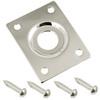 Rectangular Metal Jack Plate-Chrome