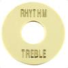 Rhythm/Treble Pickup Selector Switch Ring-Cream