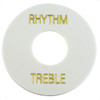 Rhythm/Treble Pickup Selector Switch Ring-White