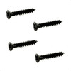Humbucker Ring Mounting Screws/Short-Black