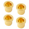 Bass Guitar String Ferrules (4) Gold