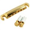 Stop Tailpiece w/ Metric Thread Studs-Gold