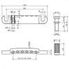 Stop Tailpiece w/ Metric Thread Studs Dimensions