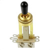 Switchcraft 3-Way Long Toggle Switch-Gold