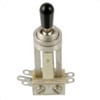 Switchcraft 3-Way Long Toggle Switch-Nickel