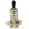 Switchcraft 3-Way Toggle Switch for 3-Pickup Les Paul-Nickel