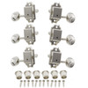 Gotoh Vintage Kluson Style 3x3 Tuning Keys w/ Oval Buttons-Nickel