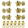 Grover Rotomatic 3x3 Guitar Tuning Keys-Gold
