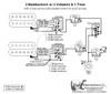 2 Humbuckers/3-Way Lever Switch/2 Volumes/1 Tone/Series-Split-Parallel