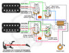 2 Humbuckers/3-Way Toggle Switch/2 Volumes/2 Tones/Coil Tap & Series Parallel & Phase/Jimmy Page