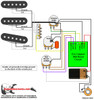 Strat w Eric Clapton Mid Boost Circuit