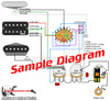 3 Pickup Sample Custom Diagram- 2 Tele Pickups  + 1 Humbucker