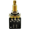 CTS 500K Audio Taper Pot w/ Push/Pull Switch-Long Shaft-Front