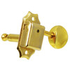 Gotoh SD90 Vintage Kluson Style 3x3 Tuning Key w/ Oval Buttons-Gold
