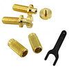 TonePros Locking Metric Studs & Anchors-Gold